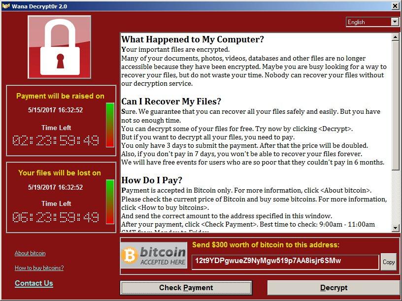 WannaCry: What we know so far…